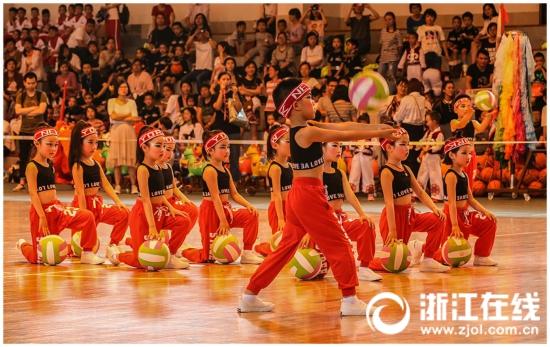 幼儿体育活力迸发 浙江省第十一届幼儿体育大会在横店开幕