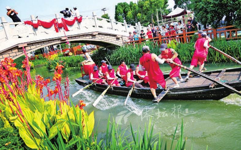姚庄渔民端午踏白船