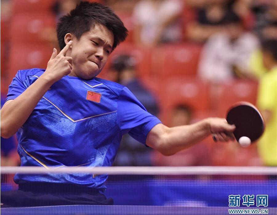 乒乓球——中国队备战亚运会热身赛:男子1团夺冠