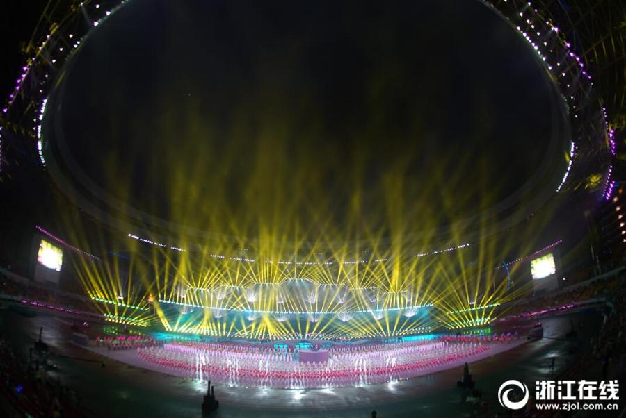 省运会开幕式演出现场精彩纷呈